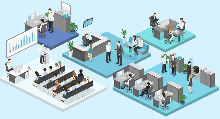 Different Departments in an Office